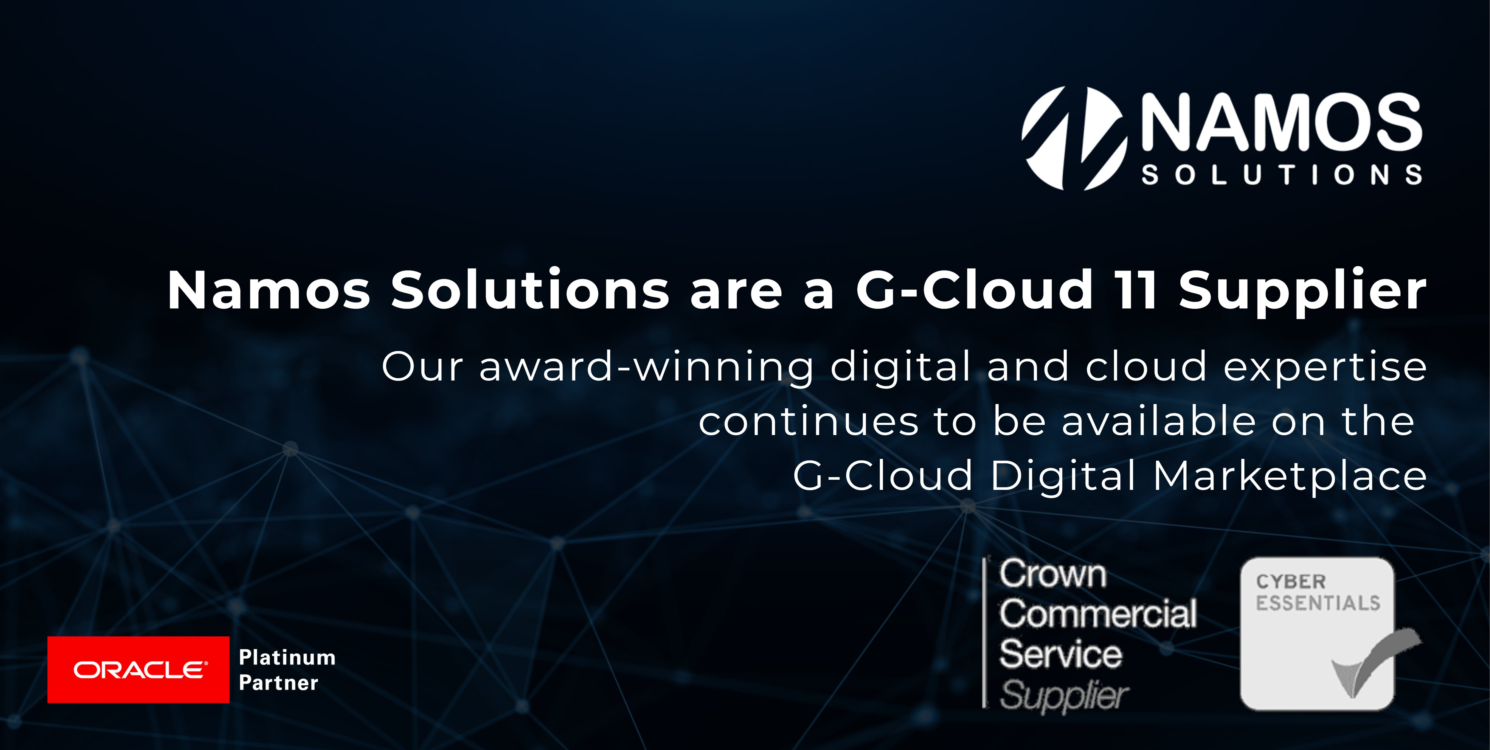 Namos Solutions Cloud Services Go-Live on G-Cloud 11