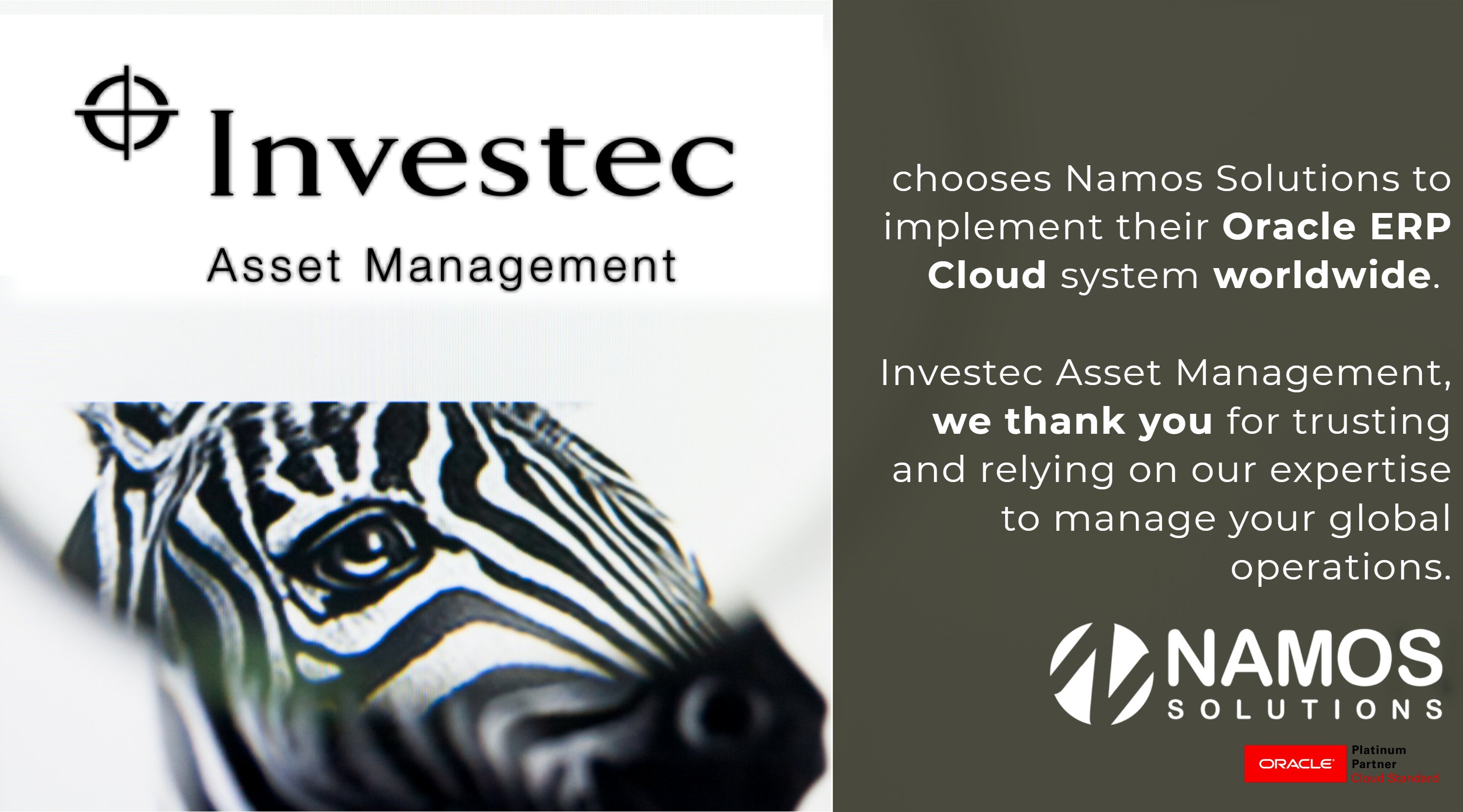 Investec Asset Management Selects Namos Solutions for Global ERP Roll Out