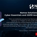 Namos Solutions Achieves Cyber Essentials and GDPR Accreditation