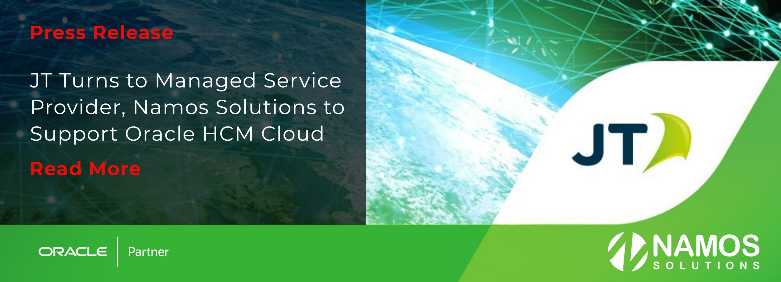 JT Turns to Managed Service Provider, Namos Solutions to Support Oracle HCM Cloud