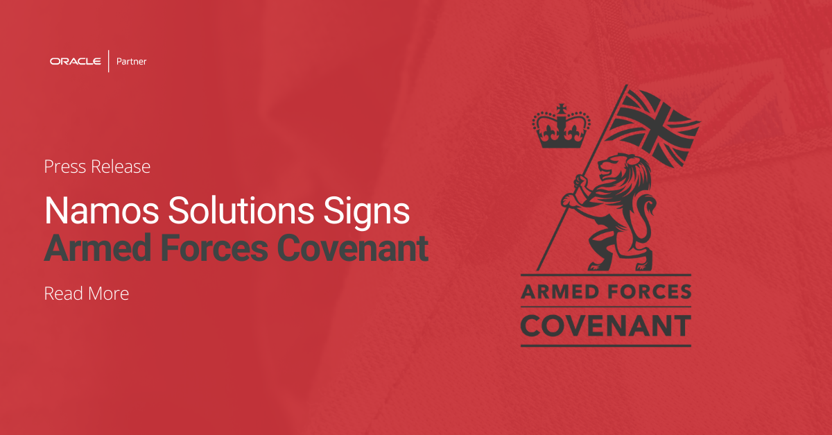 Namos Solutions Signs Armed Forces Covenant