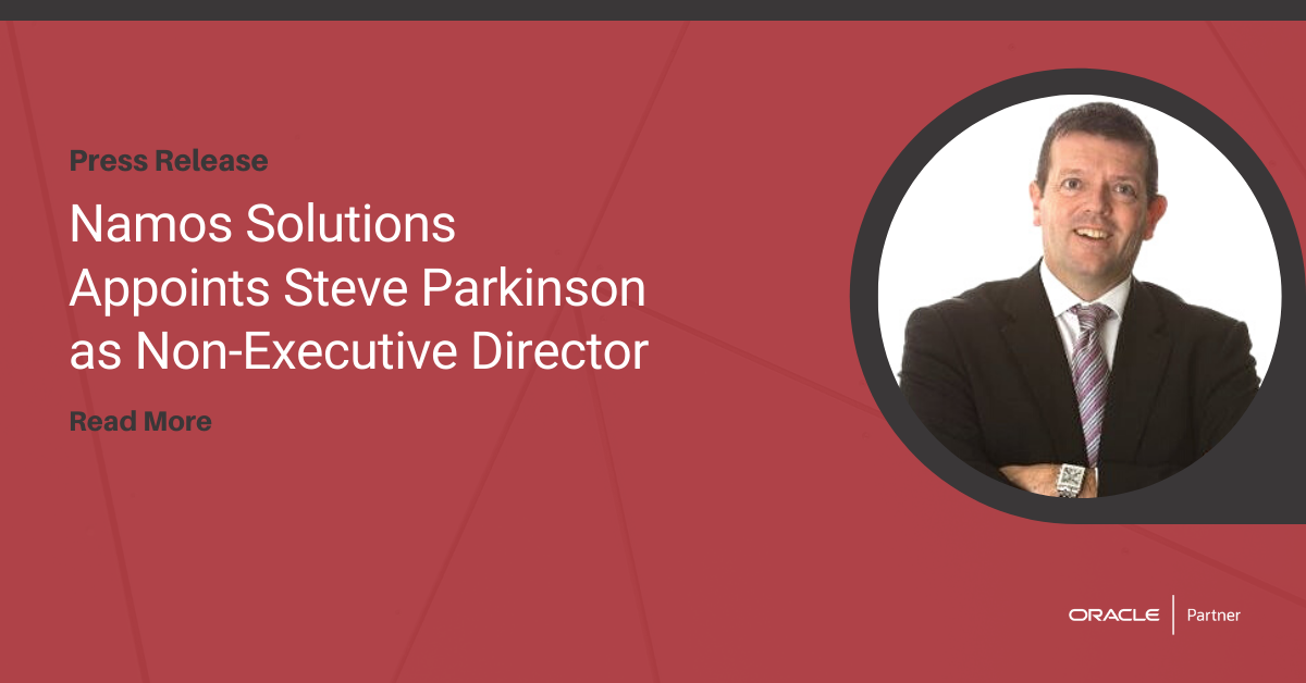 Namos Solutions Appoints Steve Parkinson as Non-Executive Director
