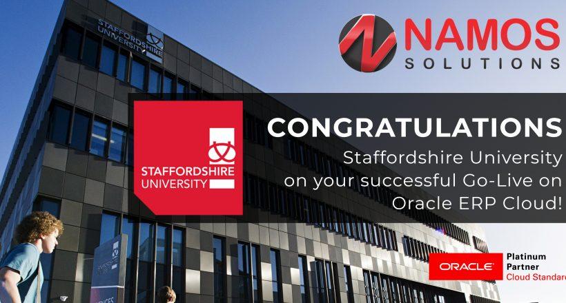 Staffordshire University Goes Live
